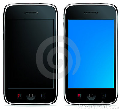 2 Phones or iPhones. Vector