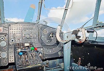An-2 plane cockpit