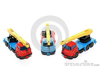 2 Plastic Bedford Crane Trucks