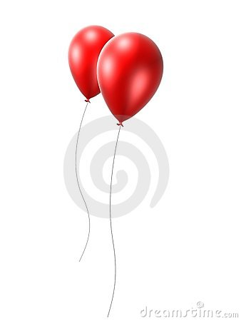 2 red balloon