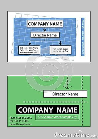 2 samples of business card design
