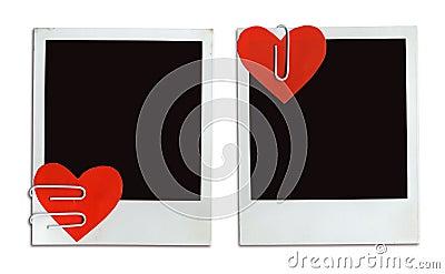 2 tarjetas de la tarjeta del día de San Valentín (camino de +clipping, XXL)