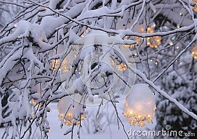 2 świąteczne lampki