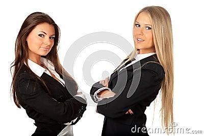 2 young beautiful businesswomen