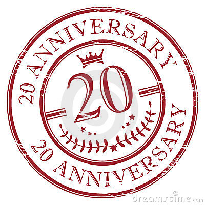 Free 20 Anniversary Royalty Free Stock Image - 23651016