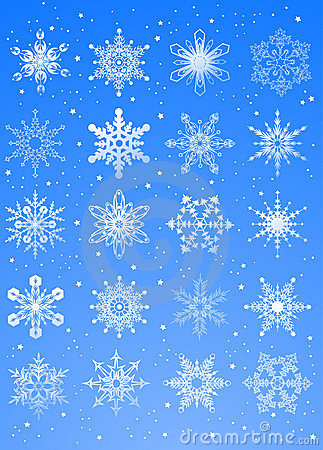 20 beautiful cold crystal gradient snowflakes