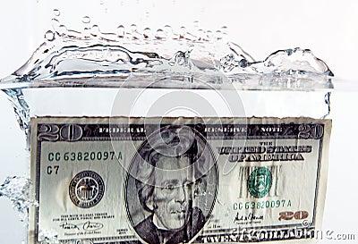 $20 bill splash