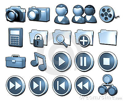 20 Blue Icons: Page 4