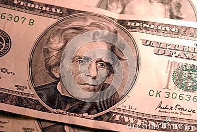 20 cuentas de dólar