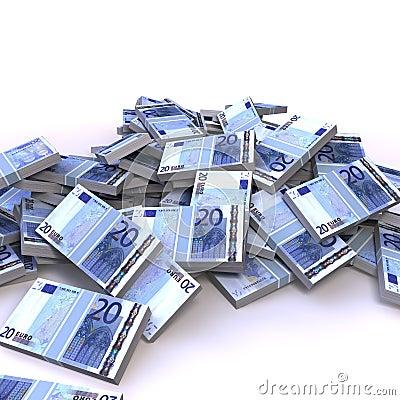 20 euro banknotes