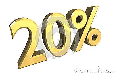 20 percent in gold (3D)