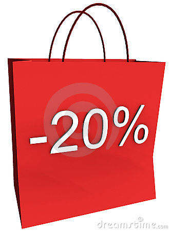 20 Percent Off Shopping Bag