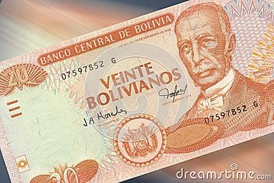 20 pesos bolivianos