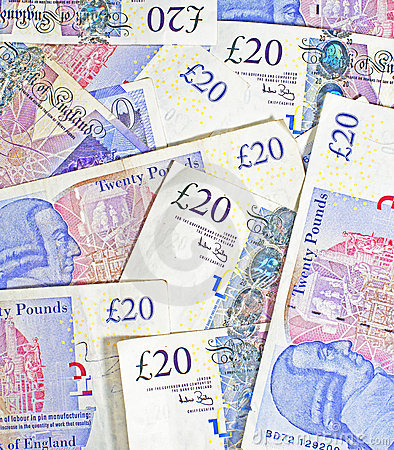 Free £20 Pound Notes Stock Photography - 22697592
