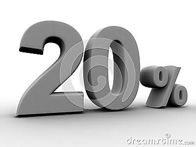 20 pour cent