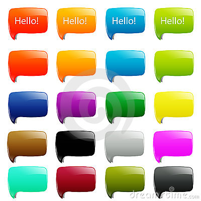 Free 20 Simple Dialog Speech Royalty Free Stock Photography - 17337707