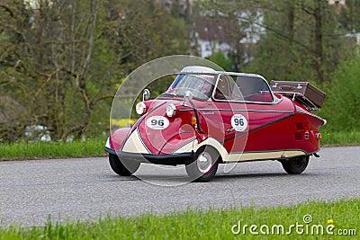 200 1955年汽车kr messerschmitt葡萄酒 编辑类库存照片