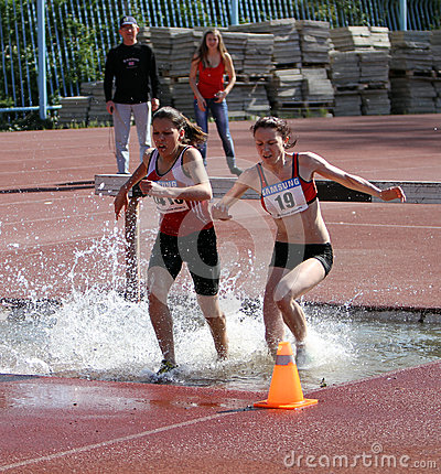 2000 Meter Steeplechase Editorial Stock Photo