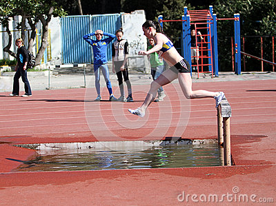 2000 Meter Steeplechase Editorial Stock Image