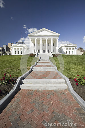 The 2007 restored Virginia State Capitol, Editorial Stock Image