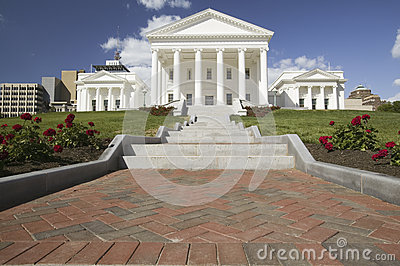 The 2007 restored Virginia State Capitol, Editorial Image