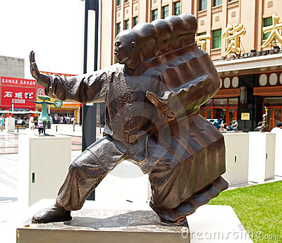 2008 Beijing summer Olympic city sculptures Editorial Stock Image