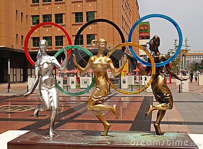 2008 Beijing summer Olympic city sculptures Editorial Photography