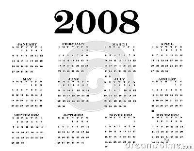 2008 Calendar