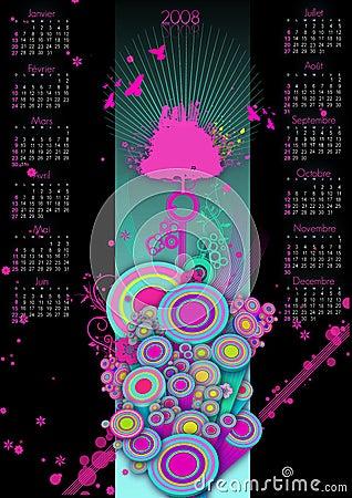 Free 2008 Calendar Royalty Free Stock Photography - 4919737
