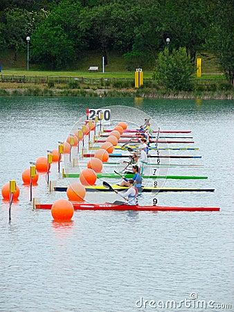 2008 Flatwater European Championships Editorial Stock Image