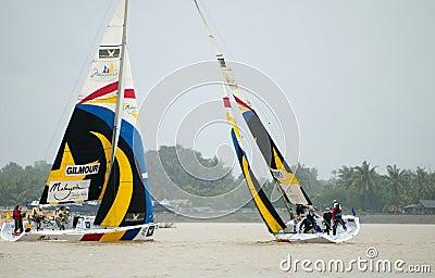 2008 Monsoon Cup in Kuala Terengganu, Malaysia. Editorial Stock Image
