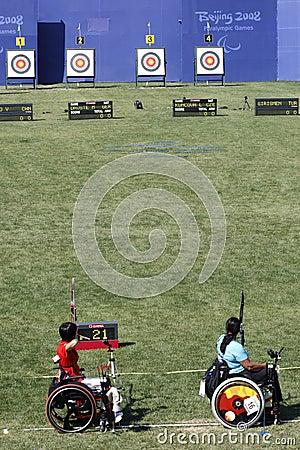 2008年paralympic北京的比赛 图库摄影片
