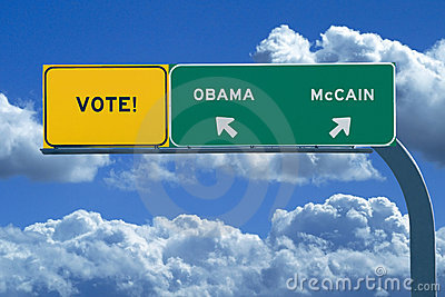 2008 Presidential Election Sign - Vote Editorial Stock Image