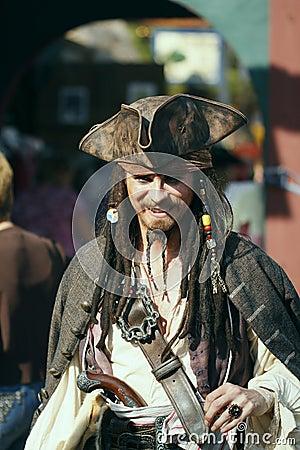 2008 renaissance festival pirate and dancer Editorial Photo