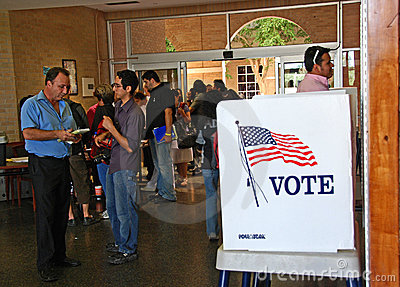 2008 US Presidential voting day in border city Editorial Photo