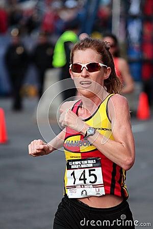 2008 US Women s Olympic Marathon Trials, Boston Editorial Stock Photo