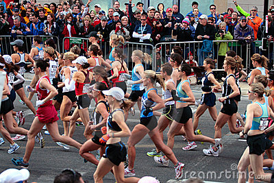 2008 US Women s Olympic Marathon Trials, Boston Editorial Stock Photo