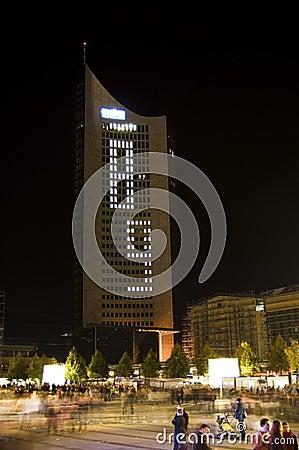 2009第9个节日莱比锡轻的10月 图库摄影片