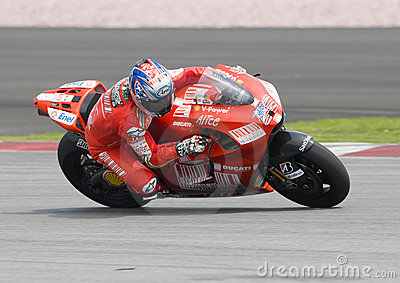2009 American Nicky Hayden of Ducati Marlboro Editorial Stock Photo