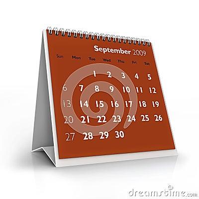 2009 calendar. September