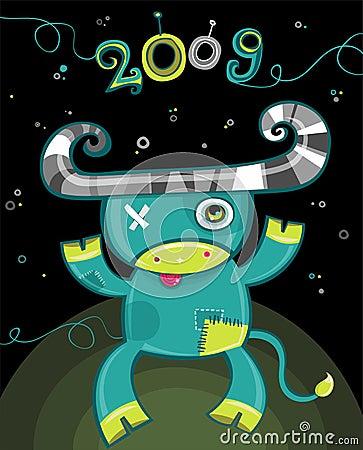 2009 cartoon ox