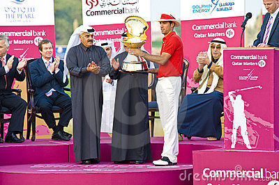 2009 Commercial Bank Qatar Masters tournament Editorial Stock Image