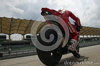 2009 Ducati Marlboro Yamaha MotoGP Nicky Hayden Editorial Stock Image