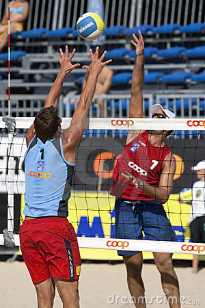 2009 FIVB CEV Lausanne Beach Volley Tournament Editorial Photo