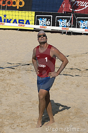 2009 FIVB CEV Lausanne Beach Volley Tournament Editorial Photography