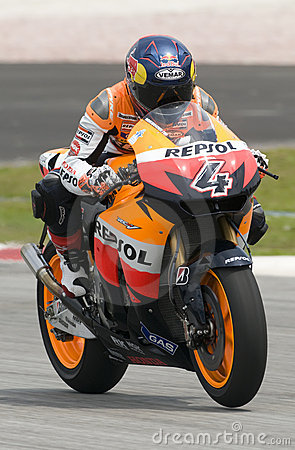 2009 Italian Andrea Dovizioso of Repsol Honda Editorial Image