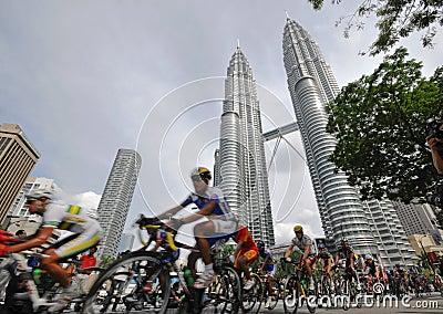 2009 le Tour de Langkawi, Kuala Lumpur, Malaysia. Editorial Photo