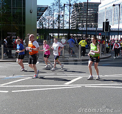 2009 London Marathon Runners Editorial Photo