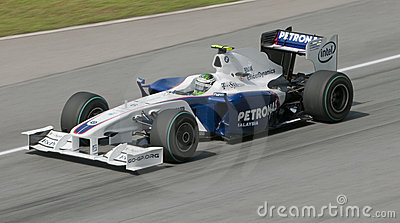 2009 Nick Heidfeld at Malaysian F1 Grand Prix Editorial Photo
