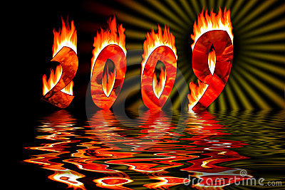 2009 numbers in fire flooding in water